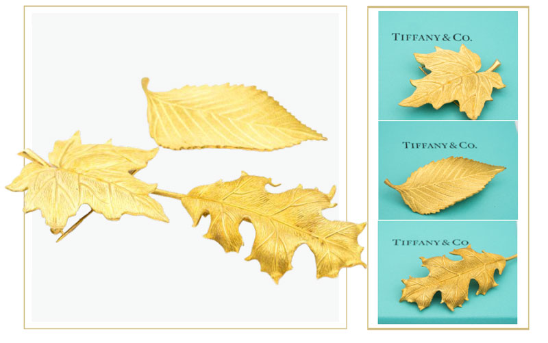 Gold tiffany leaf brooches - How to sell Tiffany & Co. jewelry