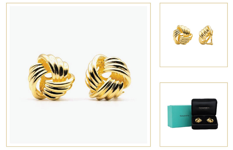 gold tiffany knot earrings - How to sell Tiffany & Co. jewelry