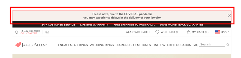 store delays - Buying a diamond ring in the time of Covid-19