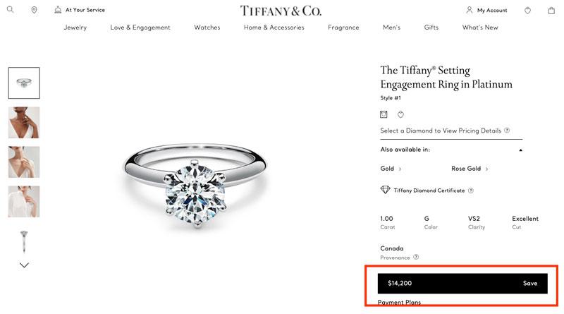 1 carat tiffany engagement ring