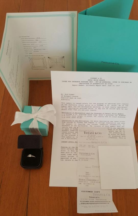 tiffany ring with all documentation - How to sell Tiffany & Co. jewelry