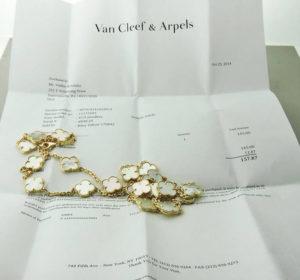 13 Van Cleef Reciept e1609913504650 - How to sell Van Cleef & Arpels jewelry