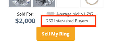 sell engagement ring worthy bids